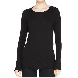 SOLD! ATM black distressed long sleeve top